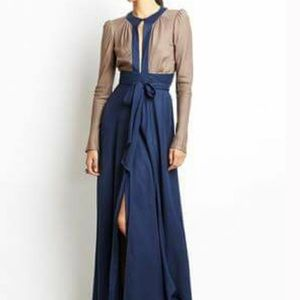 Free People Candela Wrap Plunging Maxi Dress